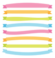 banner ribbons vector image