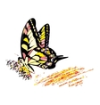 Colorful hippy butterfly vector image