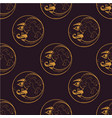 seamless pattern from drawings of the moons vector image