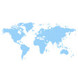 world map mosaic of blue rain drops vector image