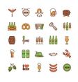 Oktoberfest thin line icons set vector image vector image