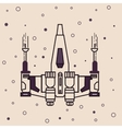 space craft fighter jet futuristic icon drawing vector image