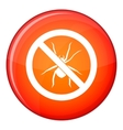 No spider sign icon flat style vector image