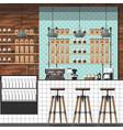 Modern coffee shop vector image