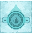 Pure natural water background in retro style vector image