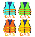 colorful Life jacket vector image