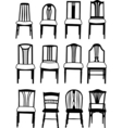 Dining chairs vector image