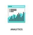 analytics icon concept vector image