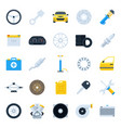 car service cartoon icons set vector image