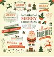 Christmas decoration design elements vector image