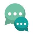 green bubble talk dialog chatting social media vector image