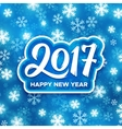 Happy New Year 2017 festive vector image