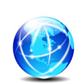 North South AMERICA Europe Global Communication vector image