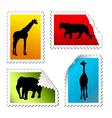 safari stickers vector image