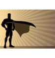 Superhero background vector image