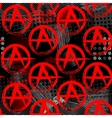 Symbols of anarchy punk pattern vector image