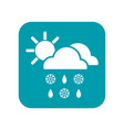 weather forecast icon or sign isolated on a white vector image