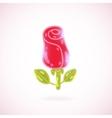 Cute cartoon rose Flower vector image