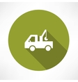 car with a crane icon vector image