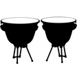 kettle drum silhouette vector image vector image