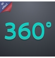 Angle 360 degrees icon symbol 3D style Trendy vector image