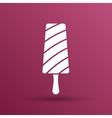 Chocolate ice cream sign Branding Identity vector image
