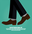 close-up of business man with leather shoes vector image