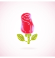 Cute cartoon rose Flower vector image