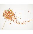 Fall season dandelion tree leaves composition vector image