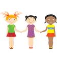 girls national vector image