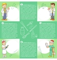 info graphics medica cartoon vector image
