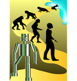new round of human evolution vector image