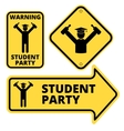 Student party vector image