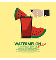 Watermelon Juice vector image