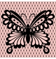 Lace with butterfly vector image