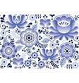 gzhel seamless pattern russian folk art design vector image