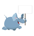 elephant with a sign vector image vector image