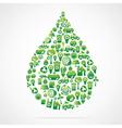 creative water drop design vector image