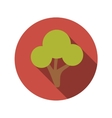 Flat Design Concept Green Tree With Long Sha vector image
