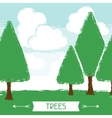 Natural background with trees in grunge style vector image vector image