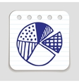 Doodle Pie Chart icon vector image