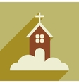 flat icon with long shadow Christmas church vector image