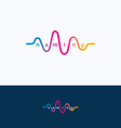 Wave audio sound logo vector image