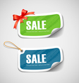 Colorful label and tag paper with ribbon vector image vector image