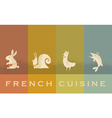 french cuisine red wine concept vector image vector image