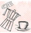 breakfasrt retro hand drawn design card vector image