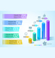 business chart infographic concept vector image