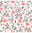 cute little pink flowers seamless pattern vector image