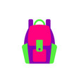 flat style colorful backpack sport school bag vector image