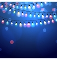 glowing Christmas Lights vector image